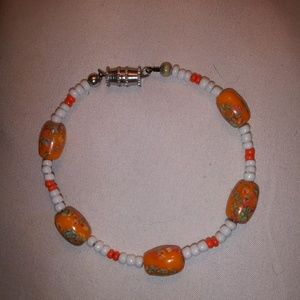 Bracelet with handpainted beads